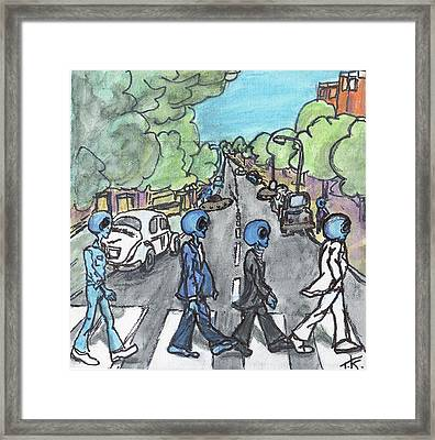 Alien Road Framed Print