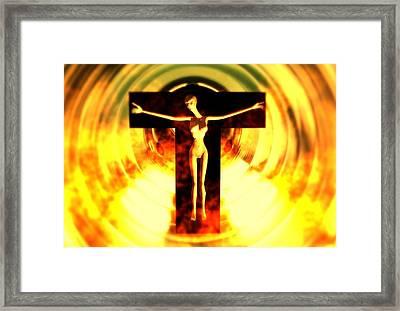 Alien Saviour  Framed Print