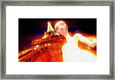 Alien Selfie Paris Framed Print by Raphael Terra