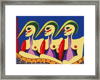 Alien Sisters Framed Print by Bill Thomson