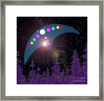 Framed Print featuring the painting Alien Skies by James Williamson