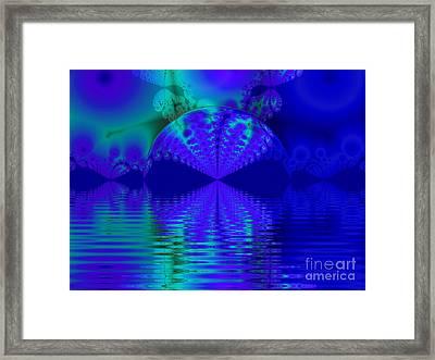 Alien Sunset Over Fantasy Lake Framed Print