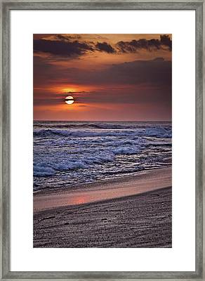 Alien Sunset Framed Print by Patrick English