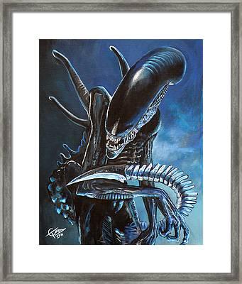 Alien Framed Print by Tom Carlton