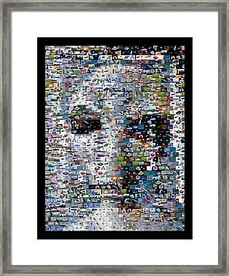 Framed Print featuring the mixed media Alien Ufo Mosaic by Paul Van Scott