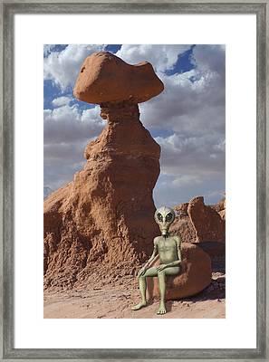 Alien Vacation - Goblin State Park Utah Framed Print