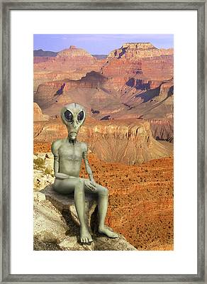 Alien Vacation - Grand Canyon Framed Print