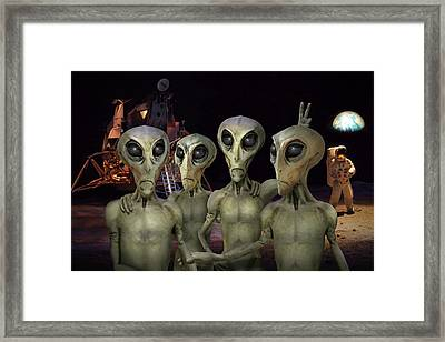 Alien Vacation - Kennedy Space Center Framed Print