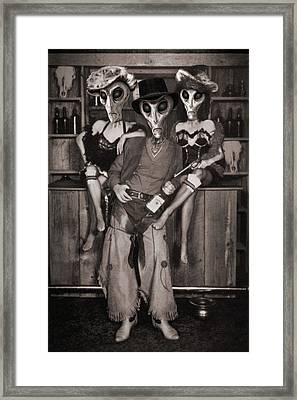 Alien Vacation - Old Time Photo Framed Print