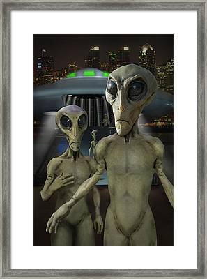 Alien Vacation - The Arrival  Framed Print