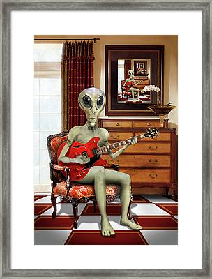 Alien Vacation - We Roll With Jazz Framed Print by Mike McGlothlen