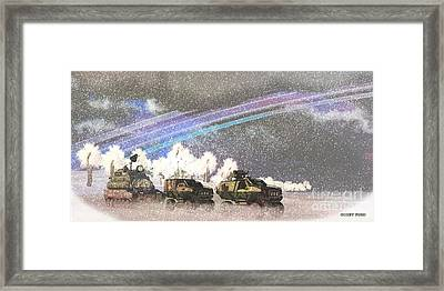 Alien Winter Storm Framed Print by Corey Ford