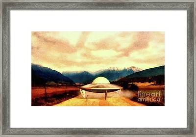 Alien With Craft Framed Print