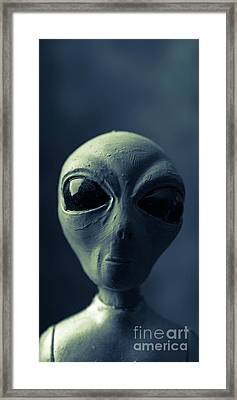 Alien X-files Phone Case Framed Print by Edward Fielding