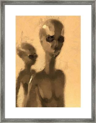 Aliens Facing Framed Print by Esoterica Art Agency