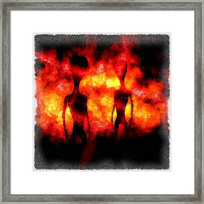 Aliens From Hell Framed Print by Esoterica Art Agency