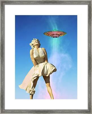 Aliens Like It Hot Framed Print by William Dey