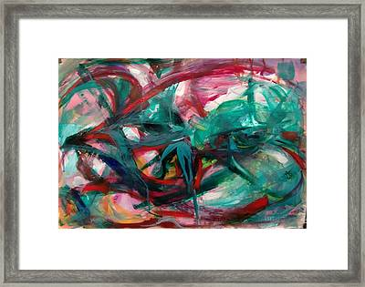 Framed Print featuring the painting Aliens by Nicolas Bouteneff