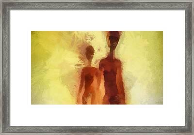 Aliens Red Framed Print by Esoterica Art Agency