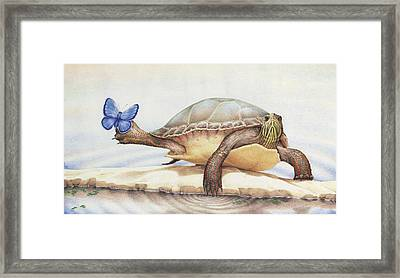Alight On Her Toes Framed Print by Amy S Turner