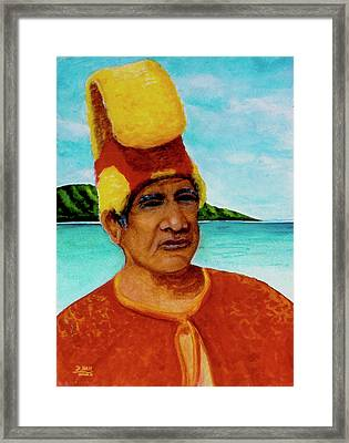 Alihi Hawaiian Name For Chief #295 Framed Print by Donald k Hall