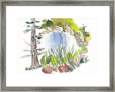 Alison's Waterfall Framed Print by B L Qualls