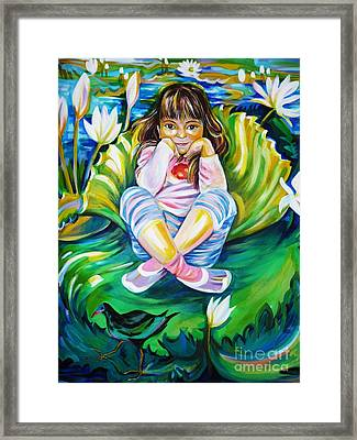 Framed Print featuring the painting Alissa by Anna  Duyunova