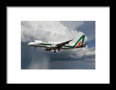 Alitalia Photographs Framed Prints