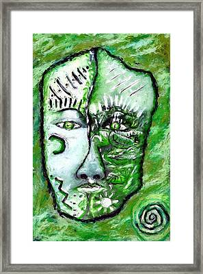 Framed Print featuring the painting Alive A Mask by Shelley Bain