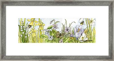 Framed Print featuring the painting  Alive In A Spring Garden by Laurie Rohner