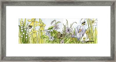 Alive In A Spring Garden Framed Print