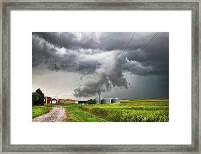 Alive Sky In Wyoming Framed Print