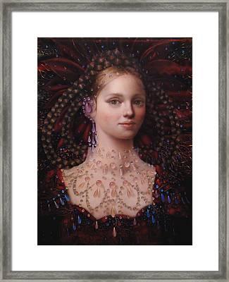 Alizarin Closeup Framed Print by Loretta Fasan