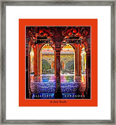 Framed Print featuring the photograph Aljaferia Coloratura by Jack Torcello