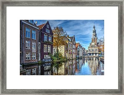 Alkmaar From The Bridge Framed Print