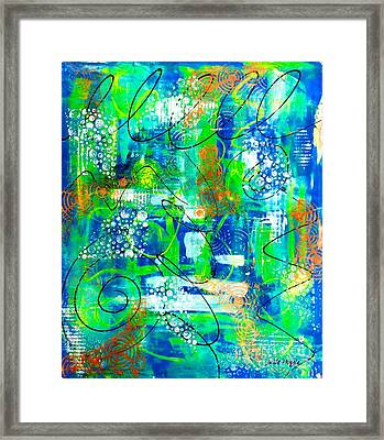 All A Whirl Framed Print