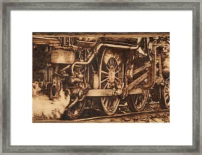 All Aboard Framed Print by Laura Lobner