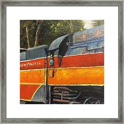All Aboard! My Train Painting Now Has Framed Print