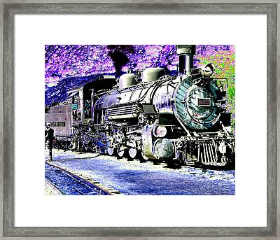 All Aboard Framed Print by Peter  McIntosh