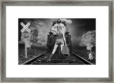 All Aboard The Train Framed Print