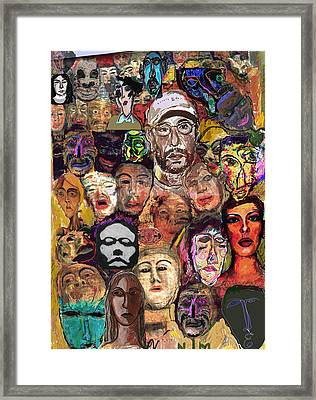 All About Masks Framed Print by Noredin morgan