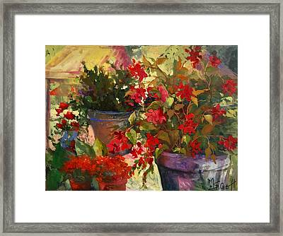 All About Red Framed Print