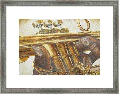 All About The Brass Framed Print by Roger W Price