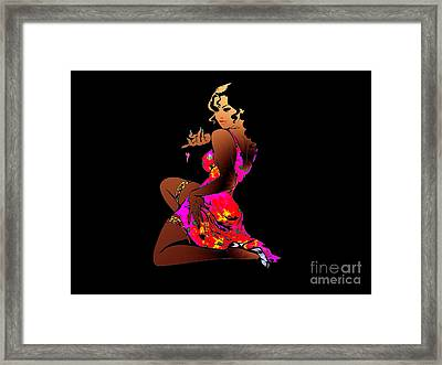 All About The Dress Framed Print by Royce Fossa