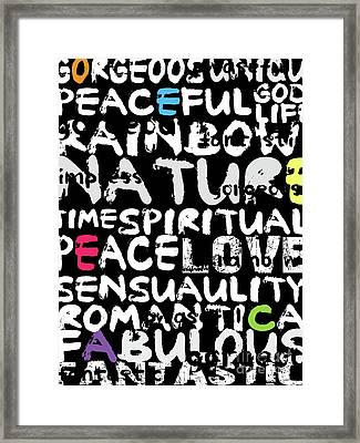 All Abut Words 3 Framed Print by Mark Ashkenazi