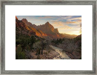 All Along The Watchman Framed Print by Peter Irwindale
