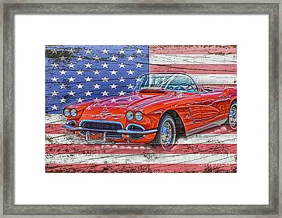 All American Beauty Framed Print