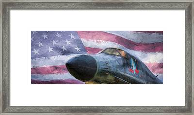 All American Bomber Framed Print by JC Findley