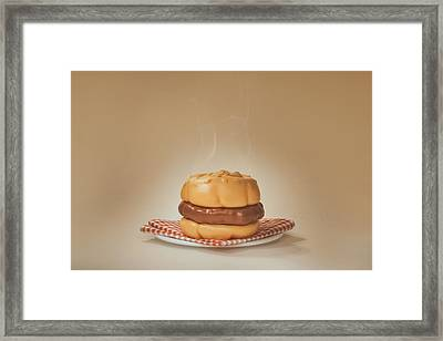 All-american Burger Framed Print by Scott Norris