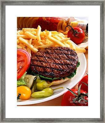 All American Burger Framed Print by Vance Fox